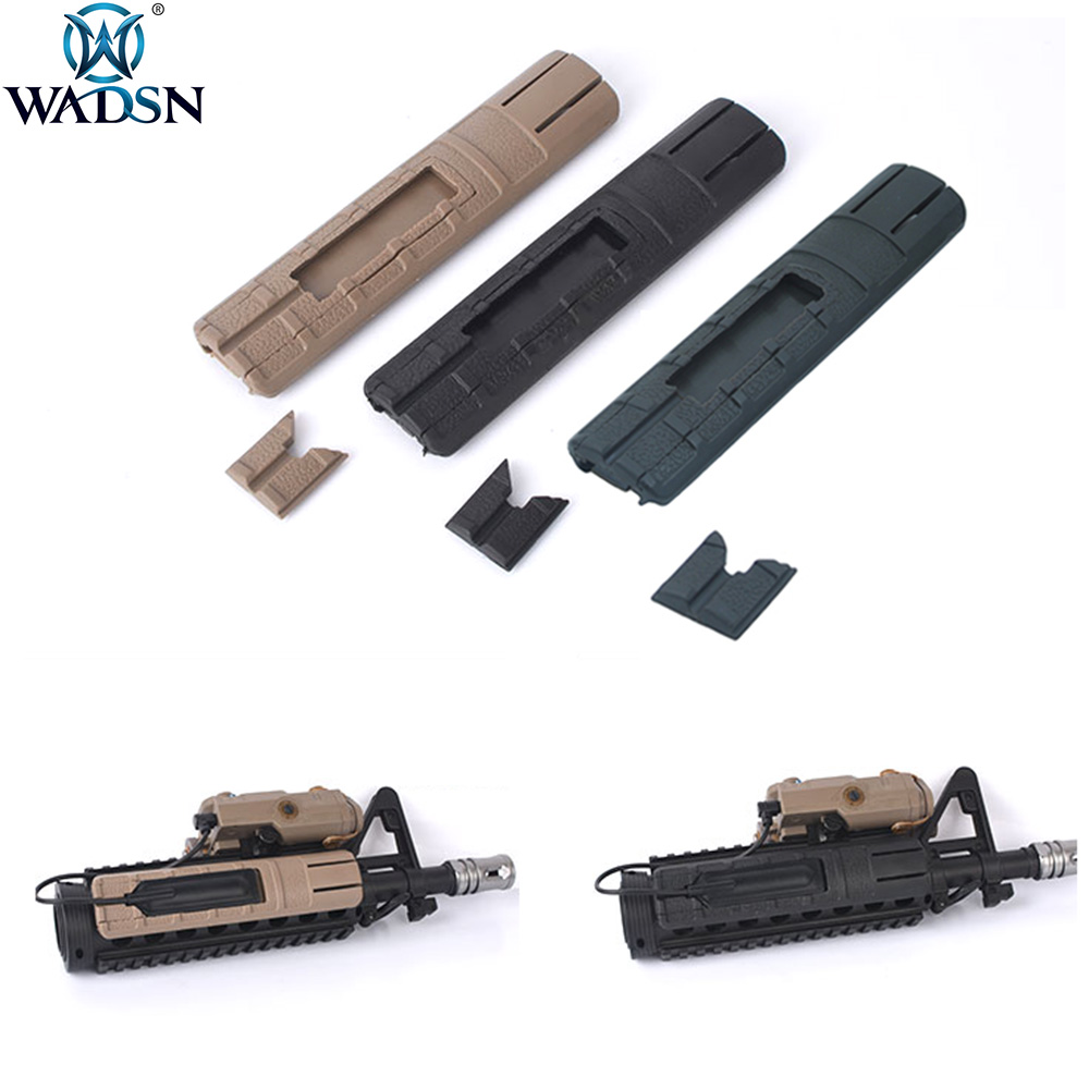 WADSN 2pcs/1pack Airsoft TD Battle Grip Rail Cover Panel Pocket Pressure Pad Fits 20mm Picatinny Rail Weapon Light Switch Holder