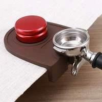 Borracha de silicone acessórios de café espresso tamper esteira titular irregular pressionado em pó anti-deslizamento almofada de canto segura