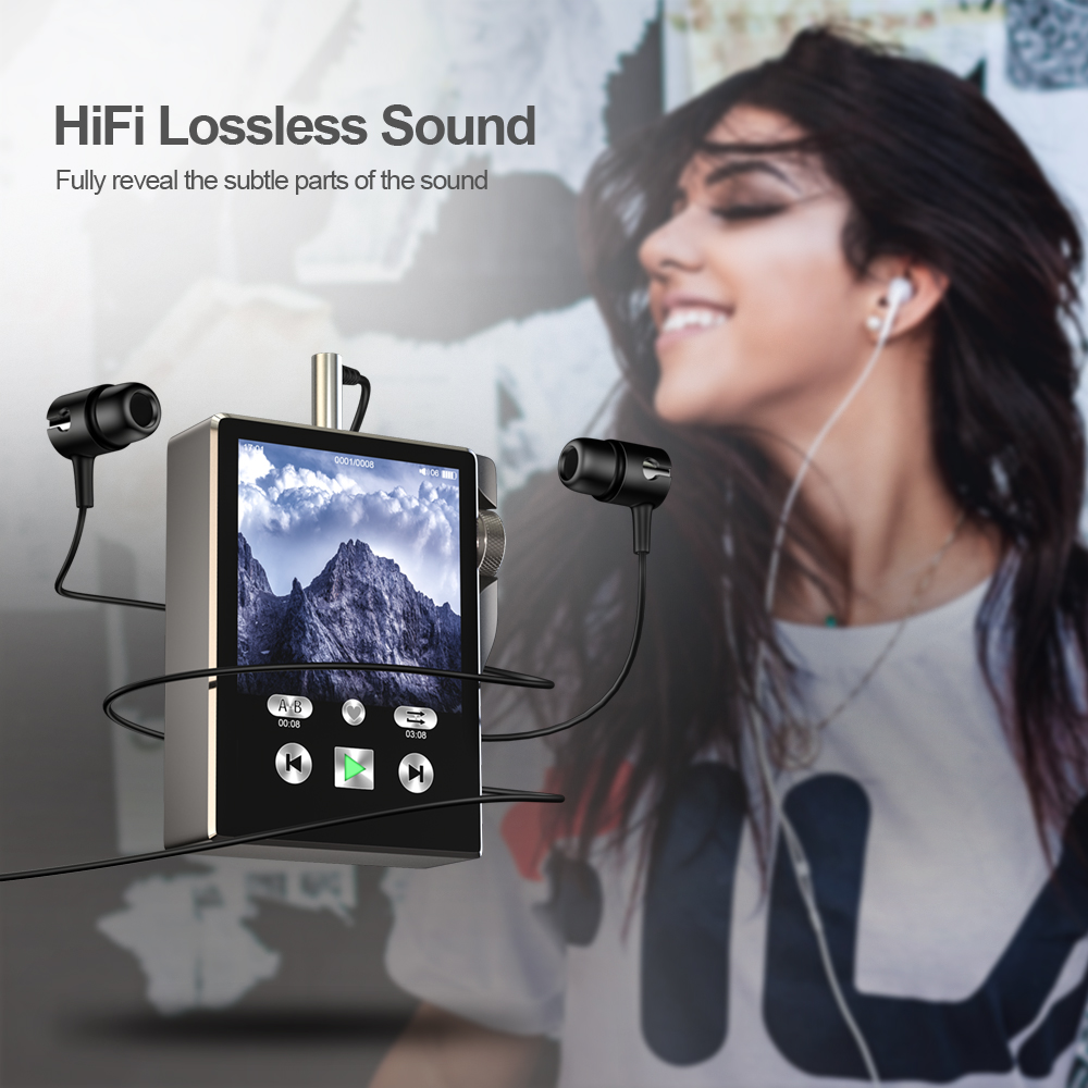 lowest price HiFi MP3 Player with Bluetooth Touch Screen Walkman Radio Portable Built-in Speaker Music Player Hi-Res Audio Recording