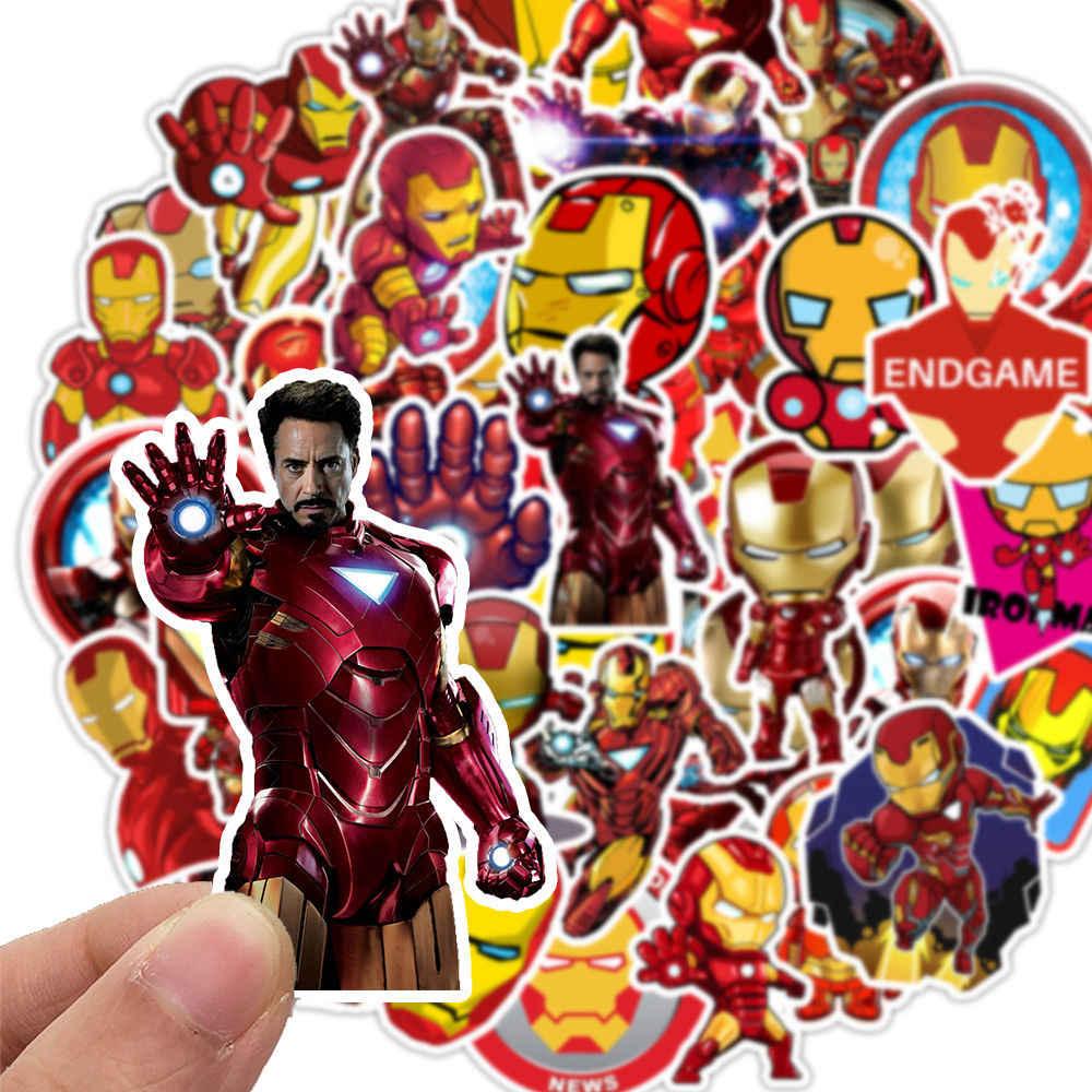 35 pçs marvel avengers heróis homem de ferro adesivos para diy adesivo na bagagem portátil bicicleta geladeira carro skates