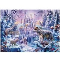 Casse-tête hivernal avec loups 1000 Pieces – paysage nature