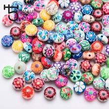 25 шт 12 мм смайлик Fimo Полимерная глина бусины для изготовления ювелирных изделий для девочек Diy браслет Perles Свободные Круглые бусины C602