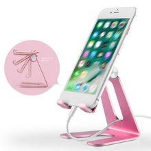 Aluminum Alloy Adjustable Tablet Phone Holder Metal Sturdy Construction Rubbers Pads For Mobile &Tablet