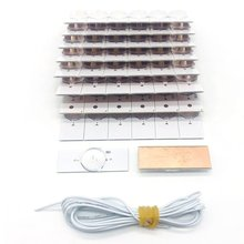 50PCS 6V SMD Lamp With 2M Power Cable with Optical Lens Fliter for 32-65 inch LED