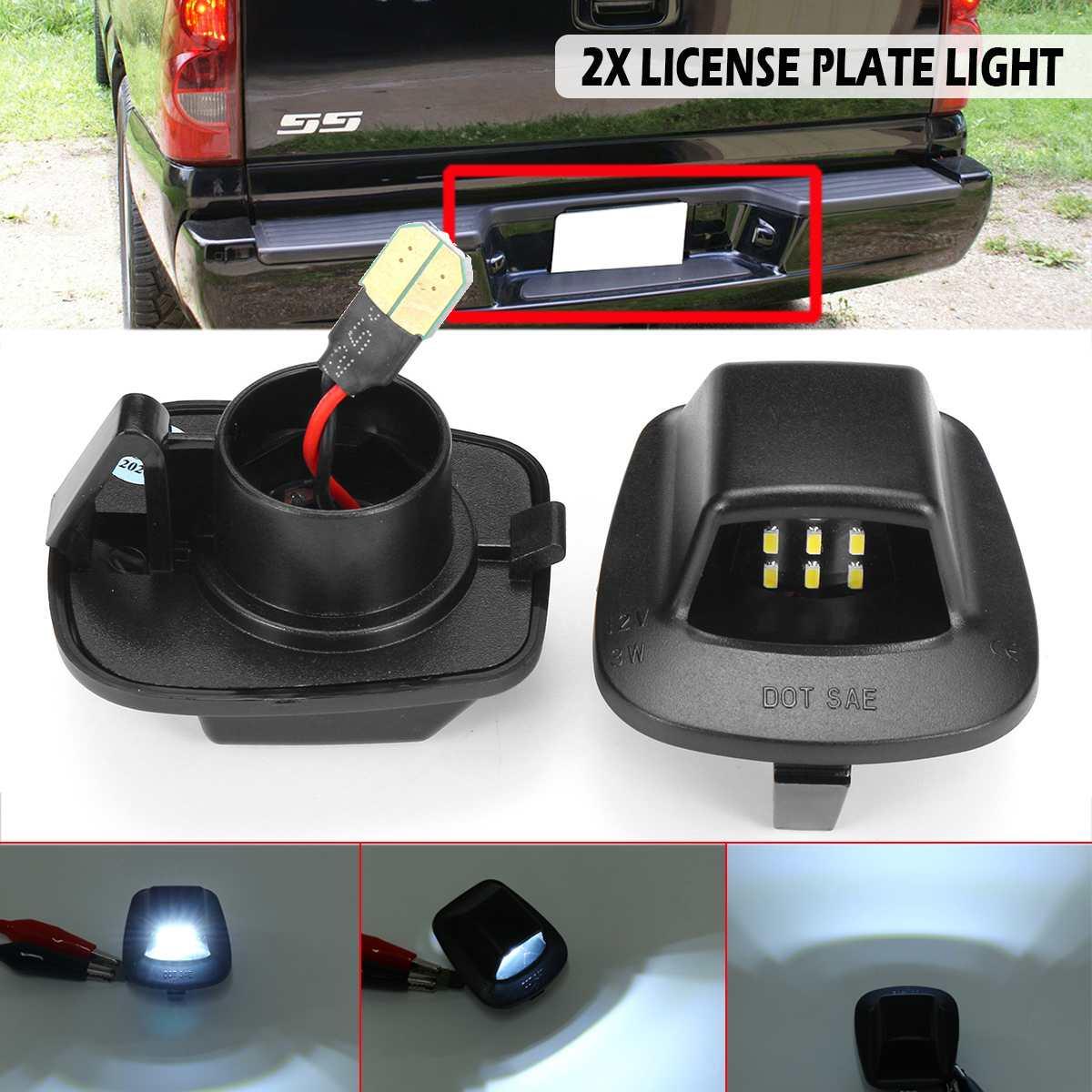 Pair 12V LED Number License Plate Light Car License Plate Lights Signal Lamp For Dodge Dakota 97-10 For Mitsubishi Raider 06-09