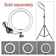 Anillo de luz para fotografía cz, Mini lámpara selfi LED para estudio fotográfico, iluminación de relleno de 160/260MM con 3 opciones de soporte de luz