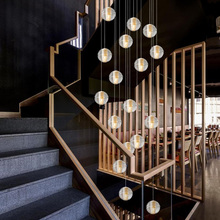 Modern LED Pendant Lights Meteor Shower Crystal Glass Ball Pendant Lamps Lighting Personality Staircase Hanging Lamps Fixtures nordic crystal glass ball led pendant lights loft fixtures staircase pendant lamps bar hanging lamp hotel villa duplex apartment