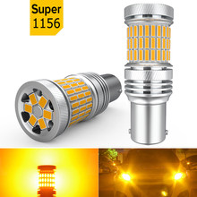 2X Car LED No Hyper Flash Turn Signal Lights Canbus P21W 1156 BA15S BAU15S PY21W For Bmw e39 e87 e90 e46 e91 e92 e60 e30 e36 f10
