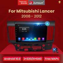 Junsun 2G+32G Android 10.0 4G Car Radio Multimedia Player For Mitsubishi Lancer 10 2007-2012 Navigation 10.1'' Auto 2 din no dvd
