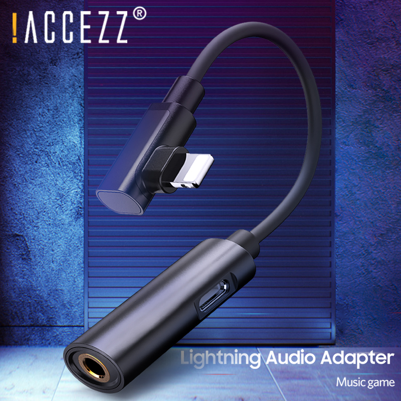 !ACCEZZ 2 In 1 Aux Adapter For Apple Iphone Adapter For Iphone 8 Plus X XR 11 Pro XS Max 3.5mm Jack Listening Charging Connector