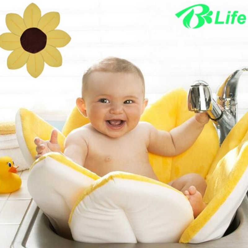 素敵なバスタブのための保護浴槽ベビー折りたたみ新生児用品花の形バスソフトマット毛布