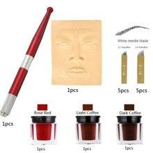 Microblading Tattoo Machine Pen Set Permanent Tattoo Eyebrow Makeup Manual Pen Handle Eyelash Mini Manual Pen Tools