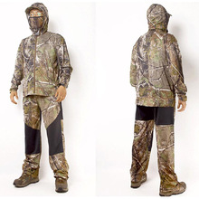 Summer Ultra-Thin Bionic Camouflage Suit Anti-Mosquito Fishing Hunting Clothes Tactical Ghillie Suit Fishing Jersyes Set cheap Water Tree Mountain Spring coolmax Fits true to size take your normal size Birdwatching hunt fishing shooting Hooded ventilate sun protection