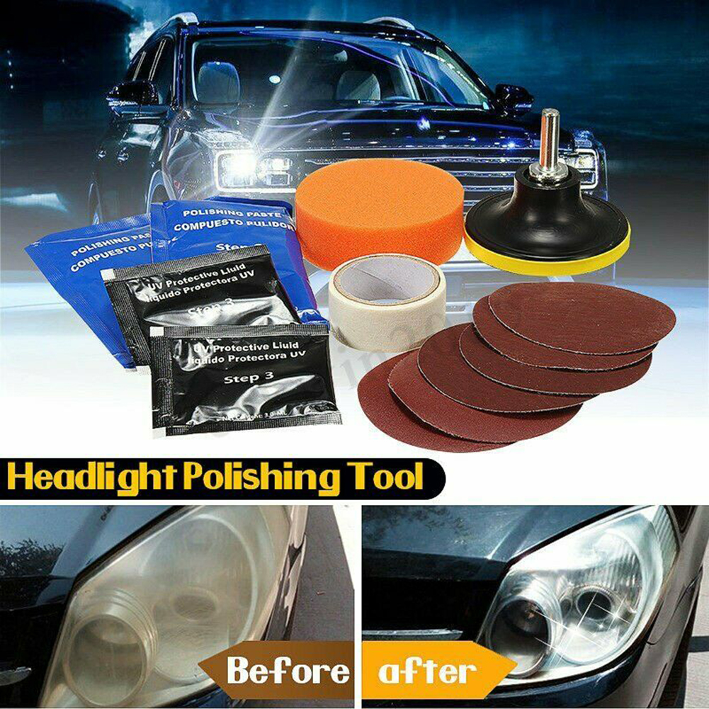 Professional Car Headlight Lens Restoration Repair Kit Polishing Cleaner Tool Car Headlight Restore Kit Two Headlight Lenses
