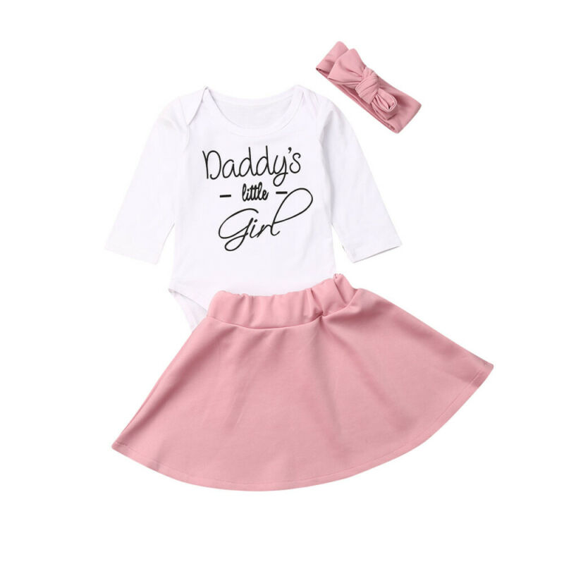 Newborn Infant Baby Girls Clothes Romper Jumpsuit Headband Autumn Outfit 0-18M