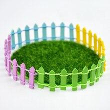 10Pcs DIY mini zaun miniatur fee garten Zaun Barriere Blumentopf Micro Landschaft Bonsai Puppe Zweig Palings Schaufenster Decor