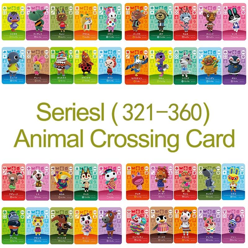 Amiibo Card NS игровая серия 4 (321 до 360) карточка для скрещивания животных