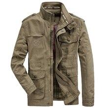 Plus Size 7XL 8XL Military Jacket Men Spring Autumn Cotton Outdoor Multi-pocket Mens Jackets Casual Coat Male Chaqueta Hombre