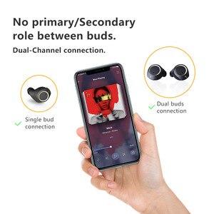 Image 3 - Doogee Dopods TWS Fingerprint Touch Bluetooth 5.0 bezprzewodowe słuchawki Bluetooth z etui z funkcją ładowania inteligentny cyfrowy zestaw słuchawkowy