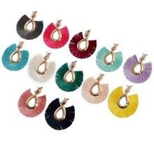 2019  Big Tassel Earrings for women Bohemian Statement Long Earring jewelry Geometric