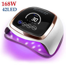 Nail Dryer for Regular Polish UV LED Lamp for Manicure Machine Tools 168/90/72W Touch LCD Ice Lamp for Gel Nail Drying Lamp