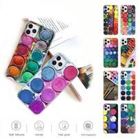 Funda transparente con paleta de pintura para teléfono móvil Huawei, carcasa transparente con paleta de pintura para Huawei P20 P40 Lite P30 Pro P Smart 2019 Honor 10 10i 20 Lite