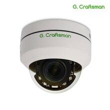 IP камера купольная, 5 МП, POE, PTZ, H.265, 2,8 12 мм, 4 кратный оптический зум, ИК, 45 м, P2P, Onvif, водонепроницаемая