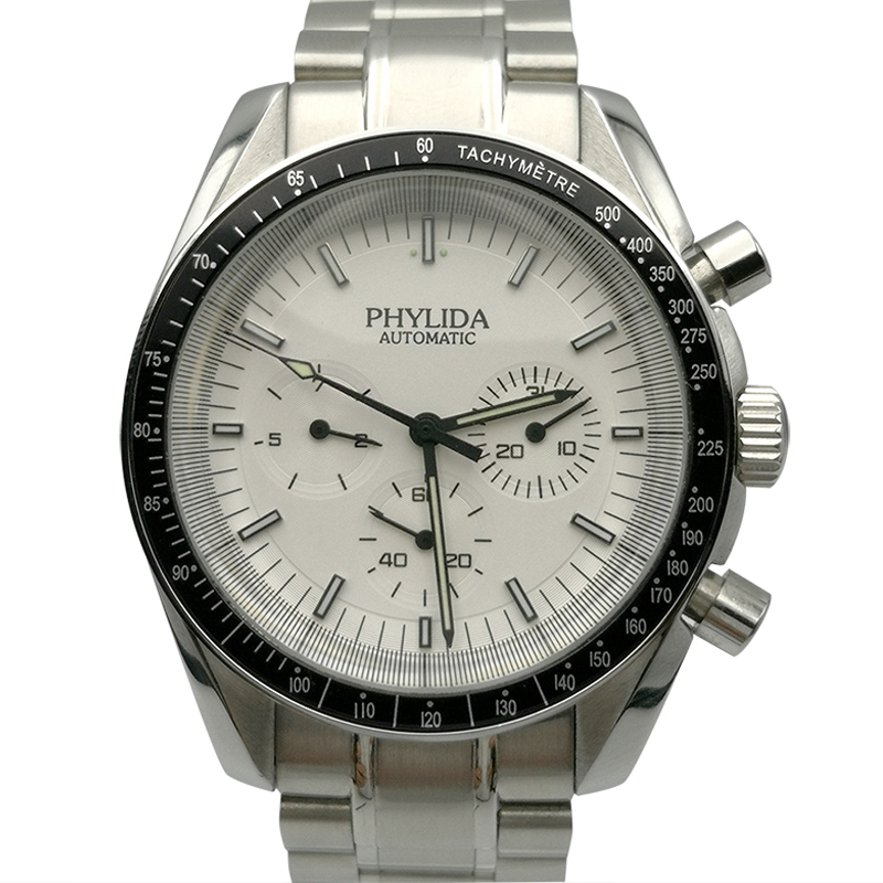 40mm Men's Watch Automatic Mechanical Movement Week And Date Speed master PHYLIDA