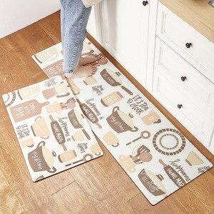 Image 2 - אנטי להחליק מטבח ארוך מחצלת אמבטיה שטיח מודרני קריקטורה מסדרון כניסת שפשפת Tapete שמן הוכחה שינה סלון רצפת מחצלות