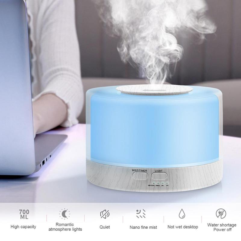 <font><b>500</b></font> Ml Remote Control Ultrasonic Humidifier <font><b>Air</b></font> Aroma With 7 -Colour Led Electric Aromatherapy Essential Accepted Aroma Diffuser image
