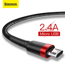 Baseus Micro USB Cable 2.4A Fast Charging for Samsung J7 Redmi Note 5 Pro Android Mobile Phone USB Micro Cable Charger Data Cord