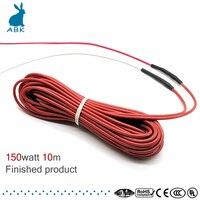 12 к 10 м 150 Вт углеродное волокно силиконовый резиновый нагревательный кабель мягкий жесткий без излучения нагревательный провод теплый теп...