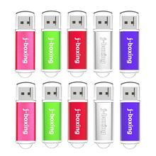 J boxing USB Flash Drive 10 Pz/pacco 1GB 2GB 4GB 8GB 16GB 32GB rettangolo Pendrive Thumb Drive USB 2.0 di Memoria con la Protezione per il PC Mac