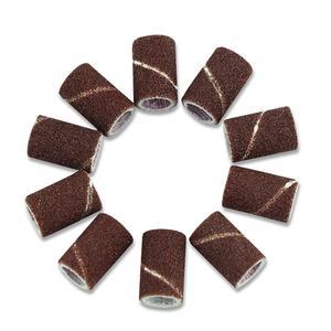 Image 5 - 50pcs/lot Sanding Bands Sleeves Electric Polishing Sandpaper circle Sand Nail Art Drill File Salon Tips Tools Dremel Accessories
