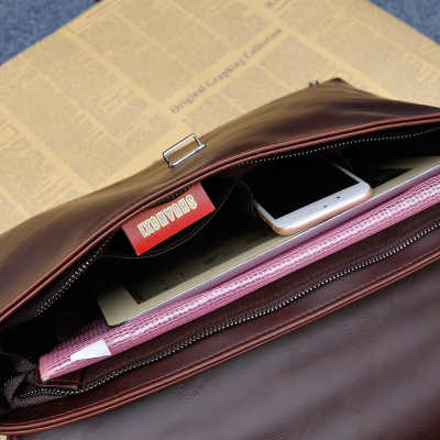 2020 spersonalizowane pole typu koreański torba męska męska torebka poziome sekcja aktówka biznes torba crossbody na jedno ramię