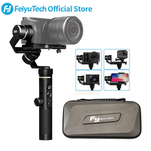 FeiyuTech Feiyu G6 Plus 3-Axis Handle Splash proof Gimbal Stabilizer for Mirrorless Pocket Camera GoPro Hero 6 5 Smartphone feiyutech a1000 3 axis gimbal handheld stabilizer for nikon sony canon mirrorless camera gopro action cam smartphone 1 7kg load
