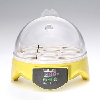 Mini 7 Egg Incubator Poultry Incubator Brooder Digital Temperature Hatchery Egg Incubator Hatcher Chicken Duck Bird Pigeon EU Pl 2