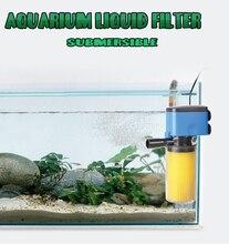 New 880L/H Aquarium Filter internal filter for fish tank submersible pump liquid filter aquarium accessory Sponge for cleaning h filter design
