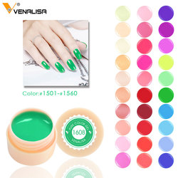 Venalisa 5ml weiß jar Reine Farbe nail art gel Lack Gel Tipps DIY Dekoration CANNI Fabrik Preis Malerei LED & UV Gel farbe