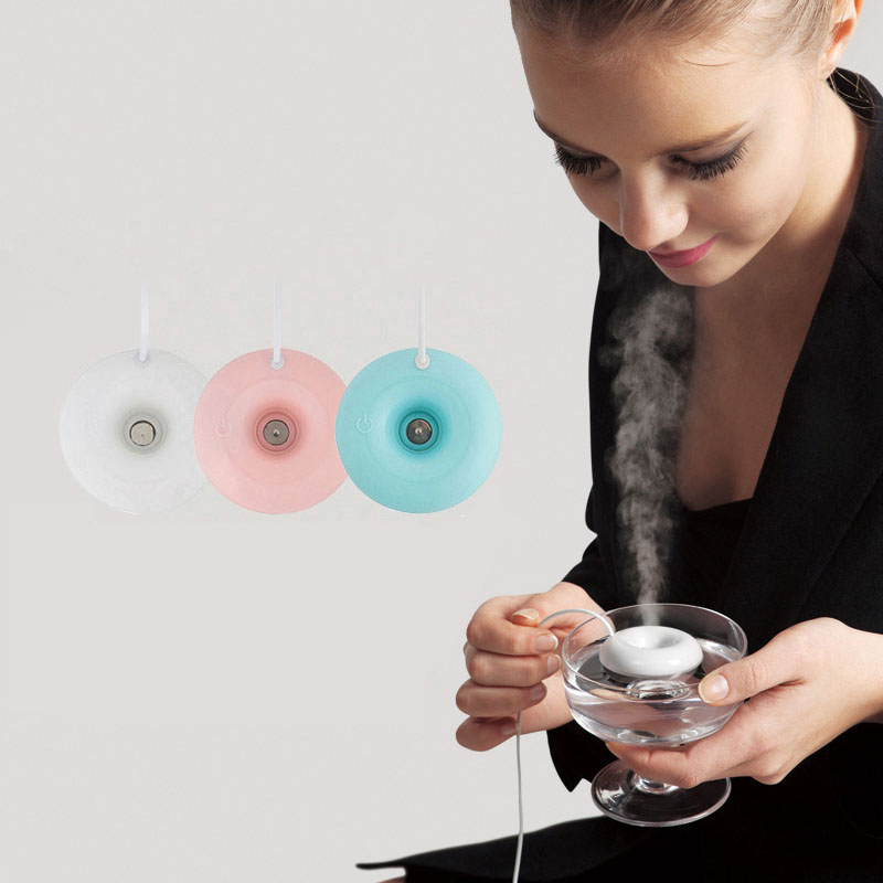 ELOOLE Mini Portable Donut Air Humidifier USB Aromatherapy Steam Diffuser Mist Maker Air Freshener For Home&Car