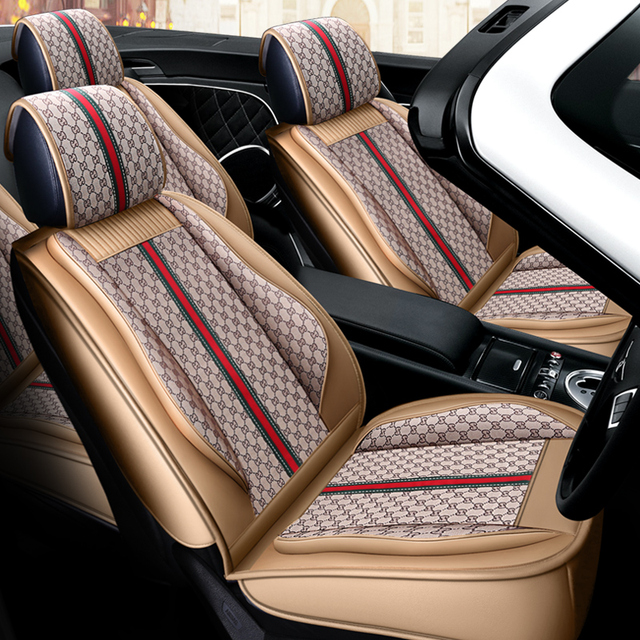 Full Coverage PU Leather and flax fiber auto seats covers for Mitsubishi Group
