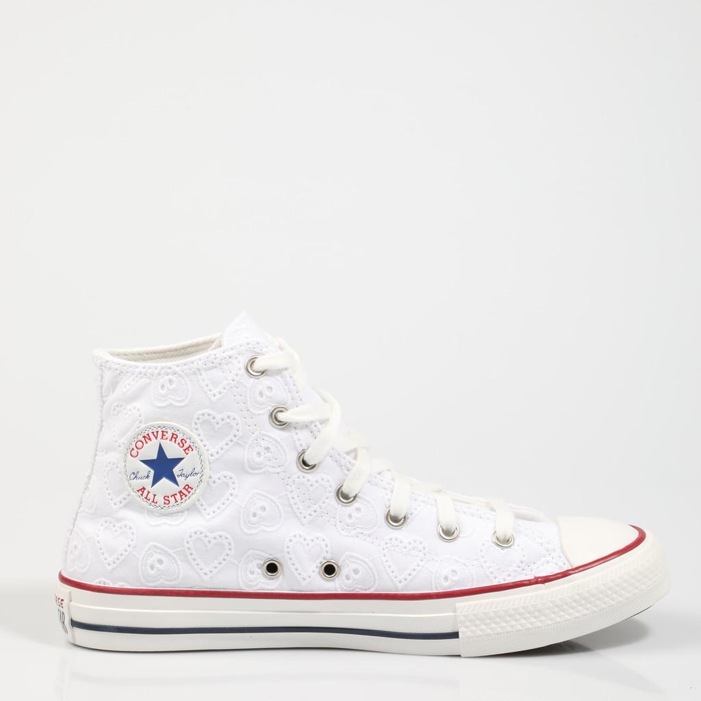CONVERSE ZAPATILLAS CTAS HI WHITE 671097C Blanco Lona Mujer – White SNEAKERS Woman Shoes Casual Fashion 74542