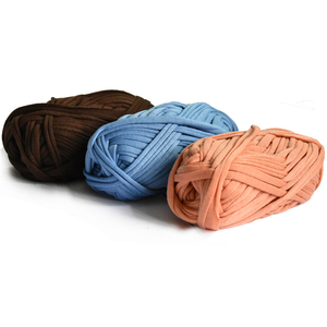 100g/ball Thick Cloth Fabric Strip Yarn Craft for Hand Knitting Crochet DIY Cushion Blanket Cloth Strip for bags(China)
