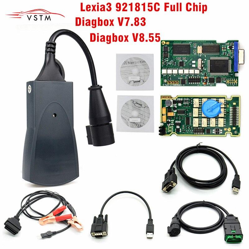 Lexia 3 Full Chip Lexia3 V48 V25  Diagbox V7 83 PP2000 Lexia-3 Firmware 921815C Diagnostic Tool