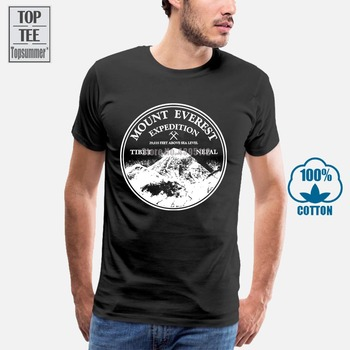 Mount Everest T Shirt Mountain Rock Climbing Vintage Skiing Poster Patch Decal T