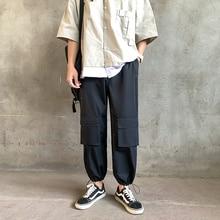 Autumn New Tooling Pants Men Fashion Solid Color Multi-pocket Overalls Man Streetwear Hip-hop Loose Joggers Sweatpants S-2XL