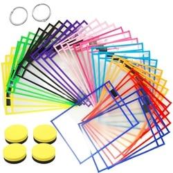 AAY-30Pcs Dry Erase Pockets Reusable Sleeves Clear Teacher Supplies for Classroom, School & Homeschool Organization