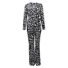 Женский бархатный комбинезон с леопардовым принтом винтажный