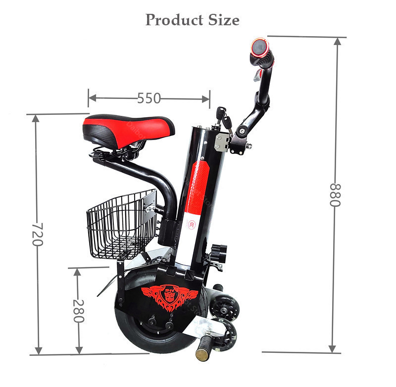 Daibot Powerful Electric Unicycle One Wheel Self Balancing Scooters 500W 60V Electric Scooter Adults With Seat (13)