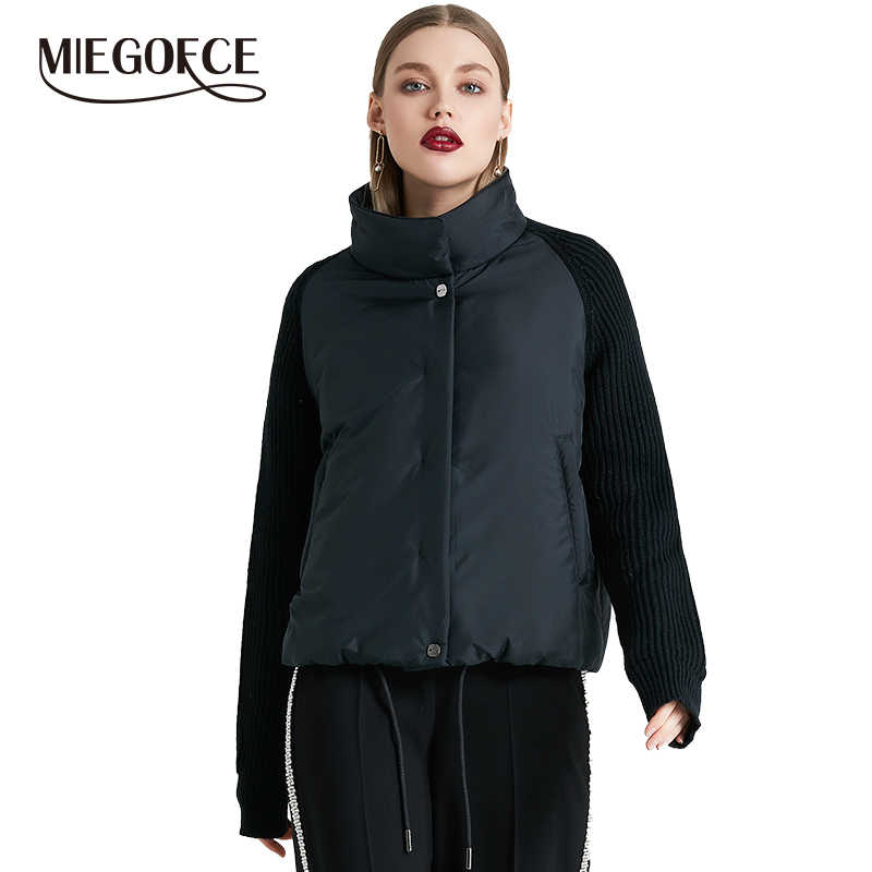 MIEGOFCE 2019 Short Women's Coat And thin cotton padded  jacket Spring Women's Jacket Stylish With Collar New Spring Collection